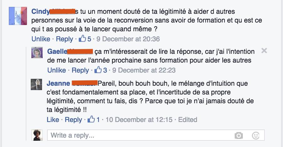Question FB - Légitimité | Je me cassse