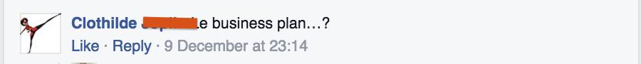 Question FB - Business plan | Je me casse