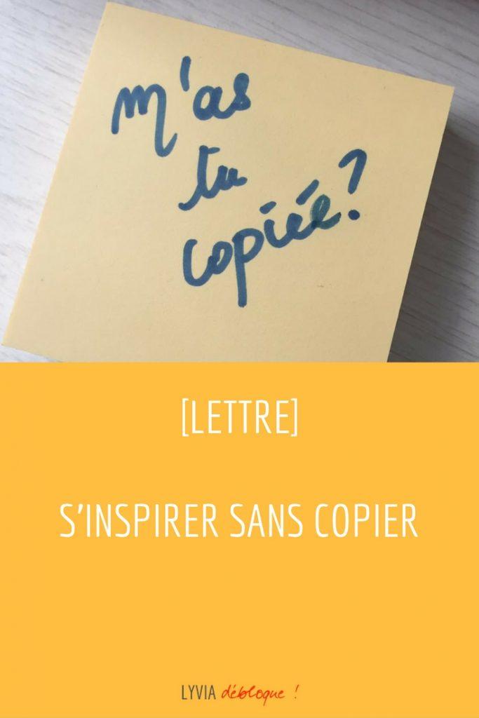 s'inspirer sans copier