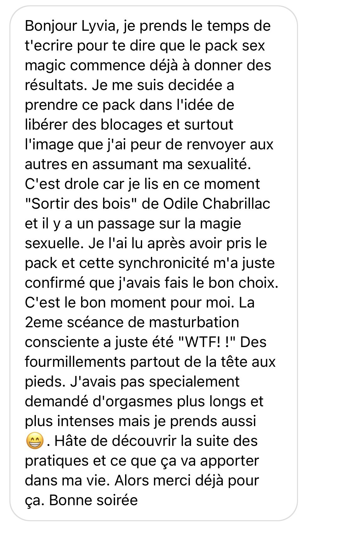 Sex Magic Témoignage 3